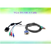 VGA TO 3 RCA Cable
