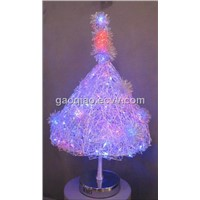 aluminum decorative LED Christmas tree table lamp