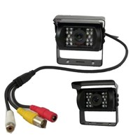 car rear view camera with audio,18pcs IR leds 3.6mm lens 420TVL CCD camera