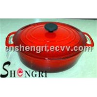 cast iron enamel cook pot