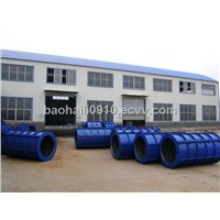 cement tube machine of roller suspension type