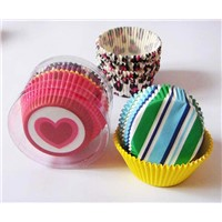 cupcake liners with palstic tube for package on promotion