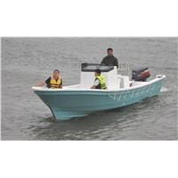 Liya boat,fiberglass fishing boat 7.6m--with CE