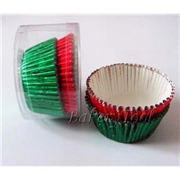 foil cupcake liners baking cups with green and red color for wedding