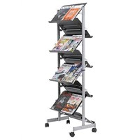 magazine and book display rack