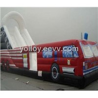 Inflatable Truck Bouncy Slide