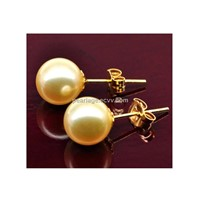 Pearl Earring with Southsea Pearl and 18k Gold