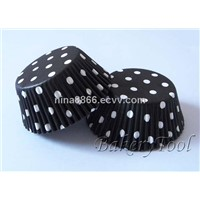 polk dots with black&white cupcake liners, muffin paper cases, for baking cup cake, wedding stand
