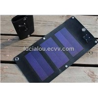 portable solar charger for travel or emergency use