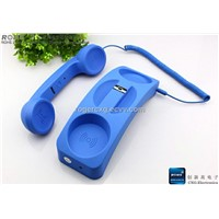 retro handset phone with dock