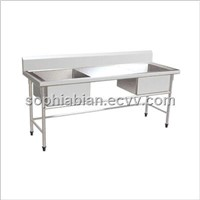 stainless steel kitchen draining table
