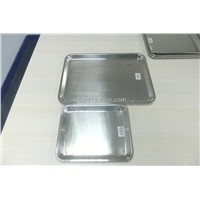 stainless steel tray turkey tray serving tray s/s square tray