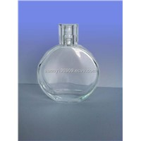 transparent glass bottle with cap