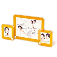 wedding gift acrylic photo picture frame with self-stand/colorful acrylic love couple photo frame