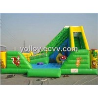 Green Forest with Animals Inflatable Slide Combo for Sale