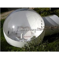 Cheap Inflatable Lawn Tent/Half Transparent Half Clear Camping Tent