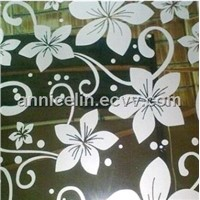 flower pattern etched stainless steel sheet
