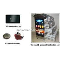 Cinema 3D glasses Disinfection cart &battery