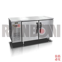 1500mm 2 door stainless steel counter freezer