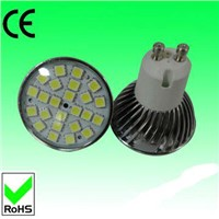 350lm GU10 5w SMD LED light with 24pcs 5050SMD