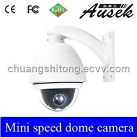 "3.5"" Super color 360 Mini speed PTZ dome camera 500TVL"