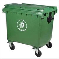 660Ltr Outdoor plastic trash bin with 4 wheels