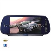 "7"" Rear view mirror with Bluetooth"