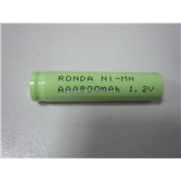 800mAh 1.2V AAA Rechargeable nimh battery