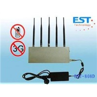 808D Cell phone signal jammer/blocker