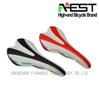 AEST Red Leather Bicycle Seat Saddle