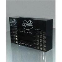 Black Cosmetic Retail Countertop Acrylic Display Holders and Cases
