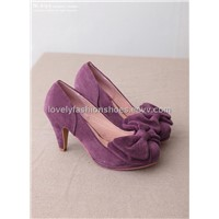 Bowknot leather inside matte material pumps NJ-A619-76