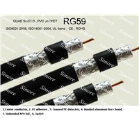 COAXIAL CABLE TRI-SHIELD ,RG6,RG7,RG11,RG59, COAX CABLE, CATV CABLE