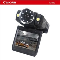 Car black box with 1080I with 8 infrared lights super night vision ,140 degree lens.
