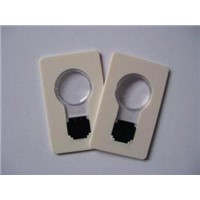 Custom Bulb Shape two of bright LED Credit Card Light with magnifier, logo printed