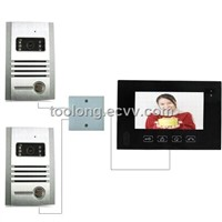 Door Acess Control system With 2outdoor Unit for Villa +2pcs metal strong camera