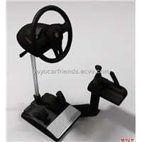 Driving training simulation machine