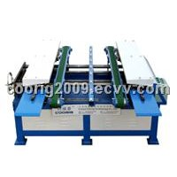 Duct flange forming machine