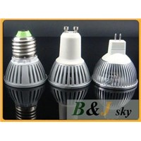 Factory wholesale,Guaranteed quality,MR16,GU10,E27,3x1w spotlight bulb,high power,color is optional