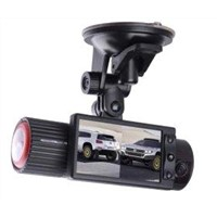 GPS Dual Lens Vehicle Black Box Car 1280*480 NTSC / PAL Video Camera