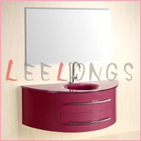 Glass Basin PVC Bathroom Vanity