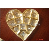 Heart Shape Chocolate Plastic Packing Tray