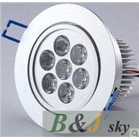 High quality,7x1w 7w white led downlight,ceiling light,6000-6500k,with 7w power supply,700-770lm