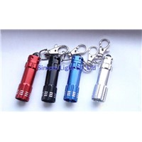 LED flash light with key ring