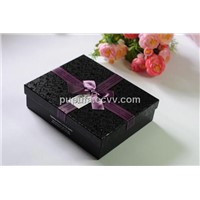 Luxury gift paper box with ribbon tie
