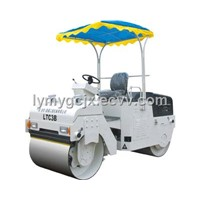 Mechanical double drum vibratory roller
