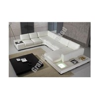 Modern Style Real Leather Corner Sofa Set  GLY035