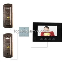 New Item Video Door Phone Kits with 2 Outdoor Unit +2pcs Pinhole Rainproof Camera