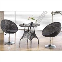 Outdoor PE wicker coffee table set GGQ027