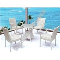 Outdoor PE wicker dining table set GHY1882
